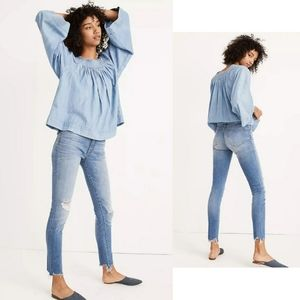 "Madewell 9"" High-Rise Skinny Jeans Frankie 32P"